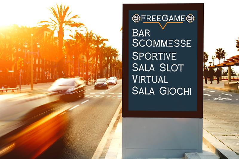 Free Game - Mockup Insegna Servizi